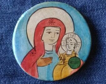 Religious magnet - Refrigerator Magnet -Madonna with Child Jesus- Holy Magnet - Christian Magnet - Fridge Magnet - Catholic Magnet -