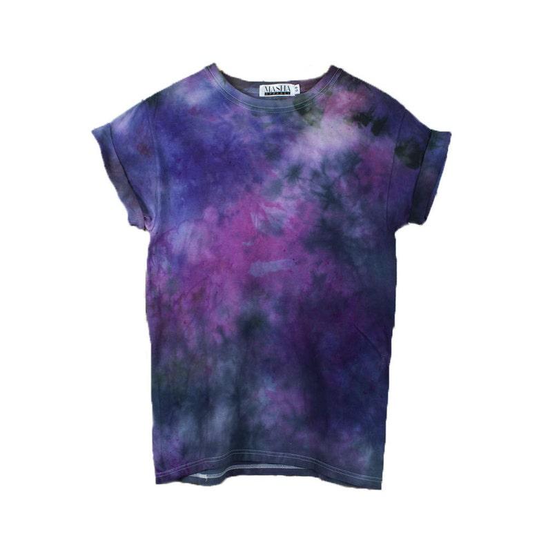 1b33f7b5edab Purple Black T shirt purple tie dye shirt crazy tie dye