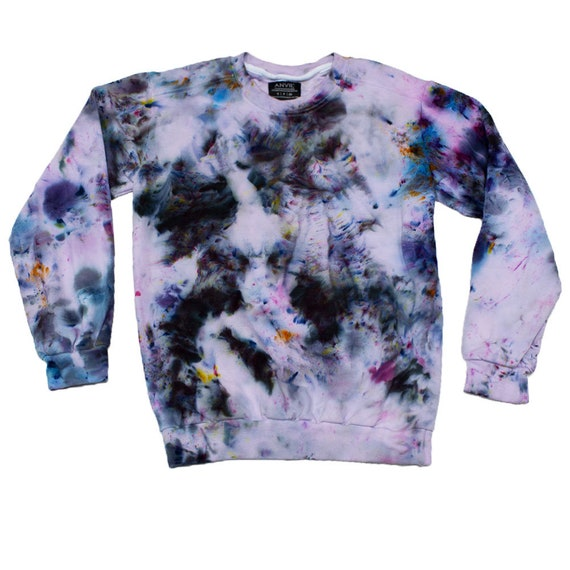 Soft Grunge Black Tie Dye Sweatshirt Aesthetic Clothing Etsy