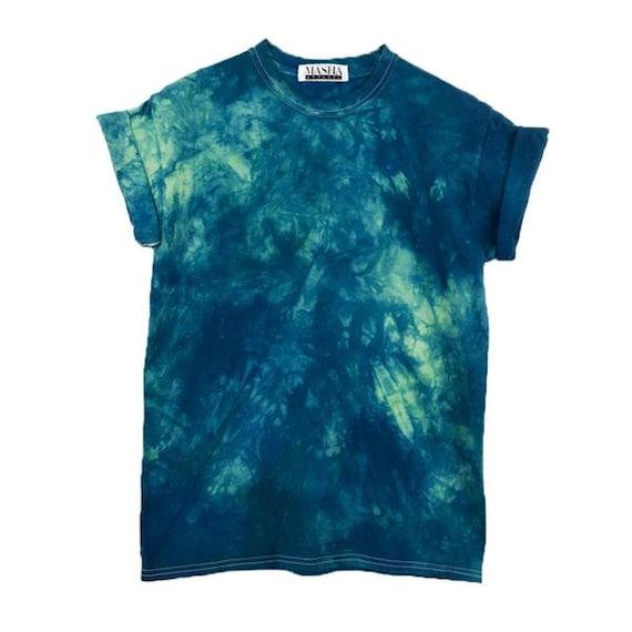 Psychedelic T Shirt, 90s Tie Dye Shirt, Boho Blue Dye, Halloween 2017 Shirt, Tie Dye Mens T Shirt, Tie Dye Unisex Tee, Blue Tie Dye Shirt, by Etsy