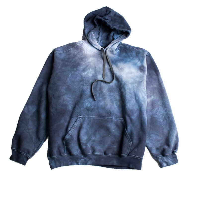 6854c26c4 Grey Tie Dye Hoodie grunge goth xl black tie dye mens Masha | Etsy