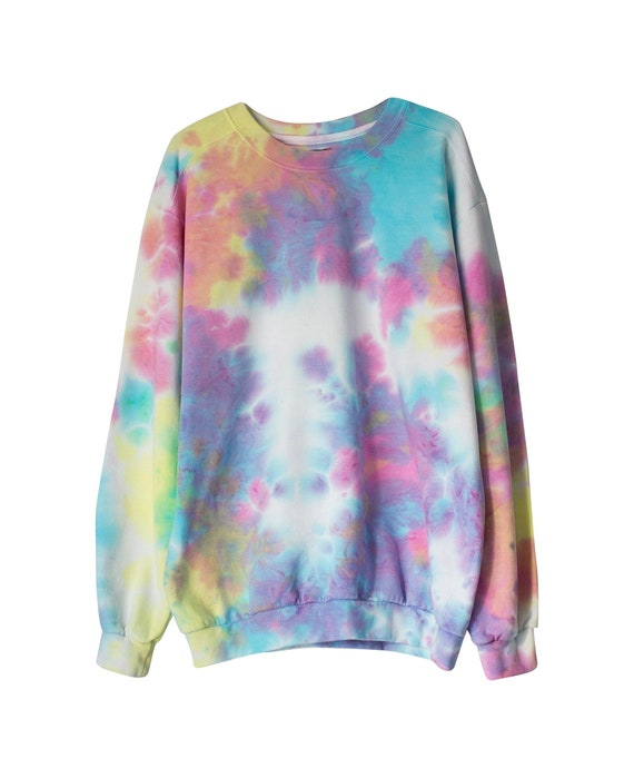 Rainbow Pastel Tie Dye Kpop Crewneck Sweatshirt by Etsy