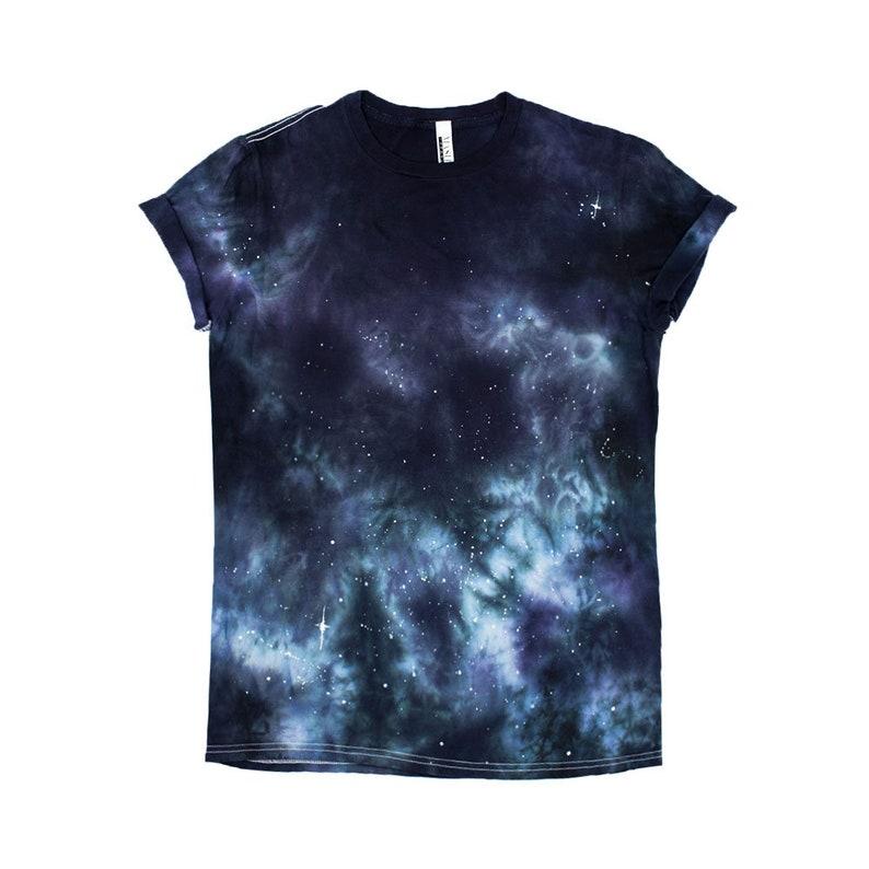 d3d3ba23bb974 Galaxy Tee constellation astronomy Starry sky tie dye t shirt