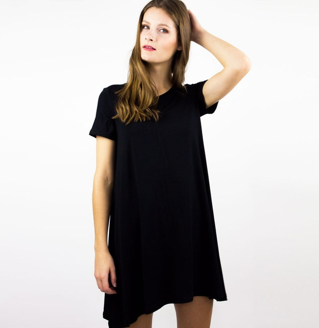 Maternity Hospital Gown Bamboo Nightgown Little black dress   Etsy