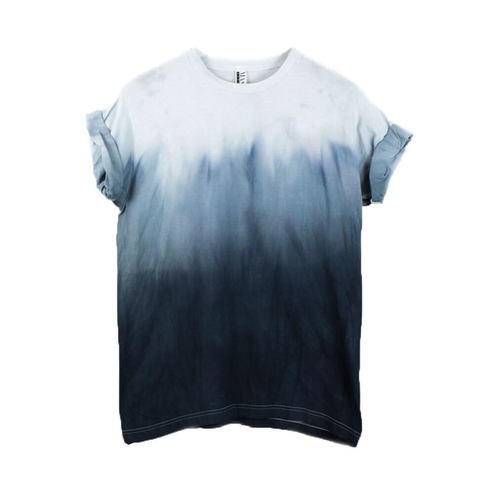 Black Dip Dye Shirt Ombre Shirt Tie Dye Mens T Shirt Yeezus Etsy