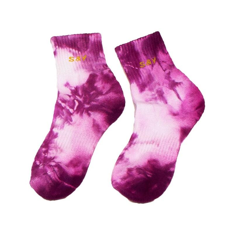 dd72aa0b295c9 Pink Tie Dye Bamboo Socks, festival psychedelic footwear rainbow nike  sports socks funky working out fun casual team tie dye socks