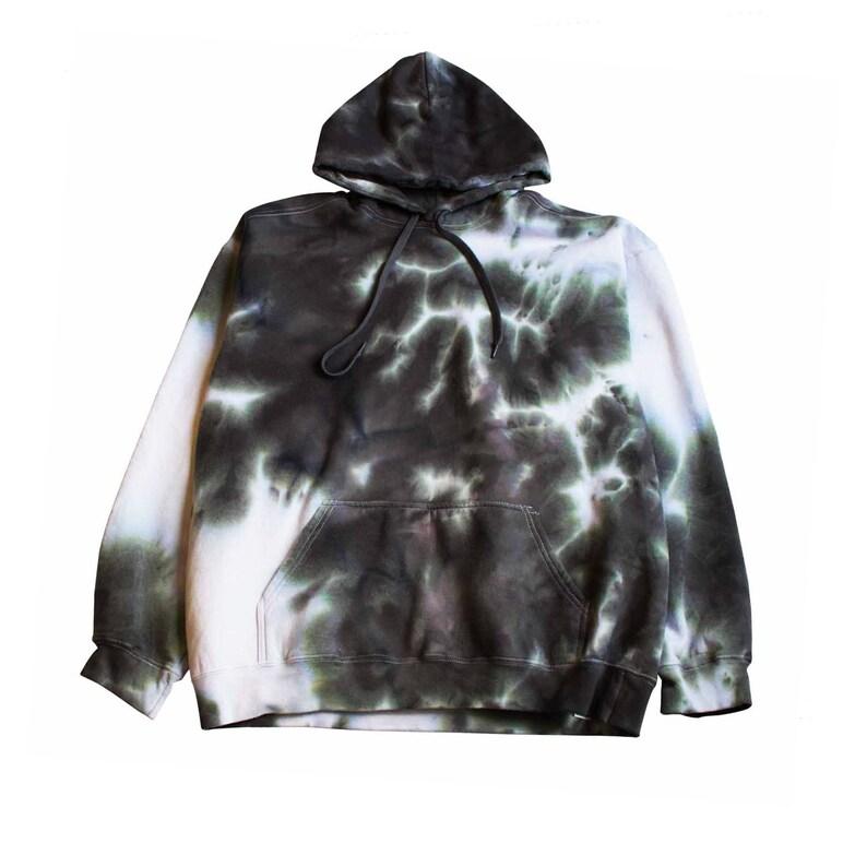 24daa07575e7f Grunge Pattern Tie Dye Hoodie, grunge goth xl black tie dye mens Masha  Apparel sweatshirt aesthetic apparel ladies kayne Ombre Black dip dye