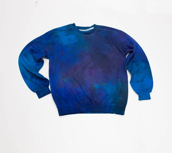 fb461e88b6360 Galaxy Sweatshirt blue tie dye hoodie crewneck sweatshirt