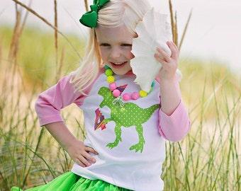 Dinosaur Birthday Shirt, Girls Dinosaur Birthday Shirt, Girl Dinosaur Birthday, Dinosaur Party, Dinosaur Shirt, Girls Birthday Shirt