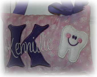 Girls Tooth Fairy Pillow - Personalized Boutique Custom Made Butterflies
