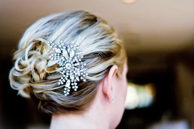 Bridal Hair Comb Vintage Style Wedding Hair Comb Crystal image 0