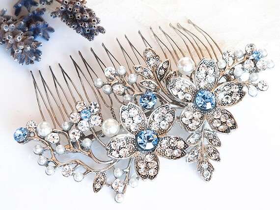 Wedding Hair Accessories Vintage Style Flower And Leaf Etsy