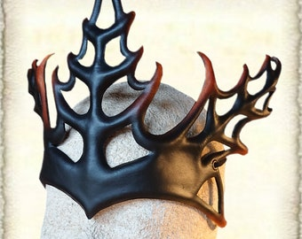 Leather Crown, made to order