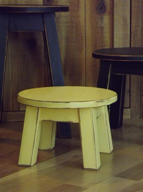 Miraculous Painted Round Stool Step Stool Foot Stool Riser Colors Yellow 8 10H Gmtry Best Dining Table And Chair Ideas Images Gmtryco