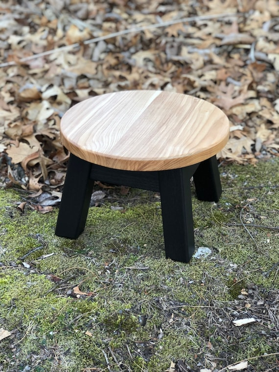 Excellent Round Top Step Stool Riser Modern Contemporary Wood Stool Painted Colors Squirreltailoven Fun Painted Chair Ideas Images Squirreltailovenorg