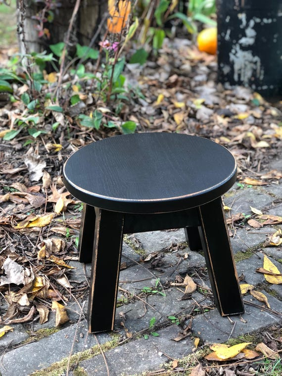 Pleasant Stool Reclaimed Wood Painted Riser Round Stool Step Stool Foot Stool Painted 8 H Andrewgaddart Wooden Chair Designs For Living Room Andrewgaddartcom
