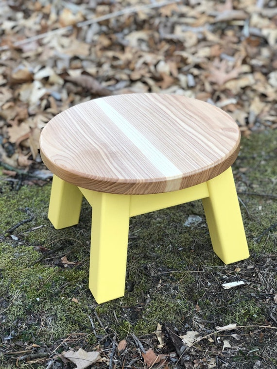 Fine Round Top Step Stool Riser Modern Contemporary Wood Stool Painted Colors Andrewgaddart Wooden Chair Designs For Living Room Andrewgaddartcom