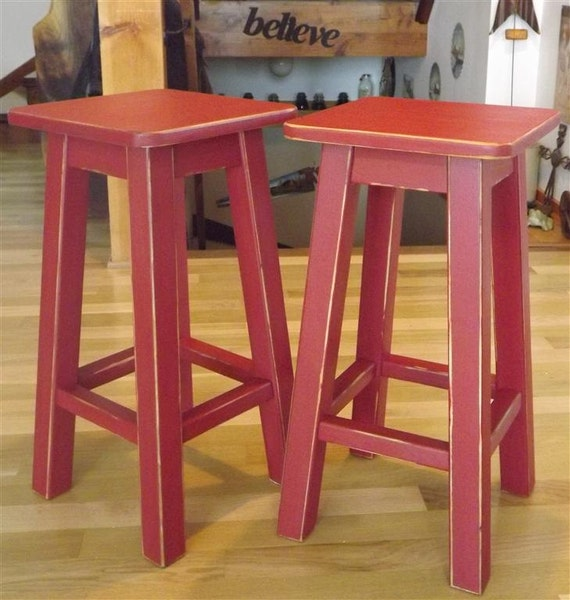 Reclaimed Wood Distressed Bar Stool Counter Stool
