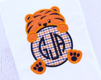 Aubie the Tiger - Auburn Mascot - Embroidery Shirt