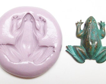 Frog Mold #21 - silicone mold, craft mold, porcelain mold, jewelry mold, food mold, pop up mold, clays mold, flexible mold