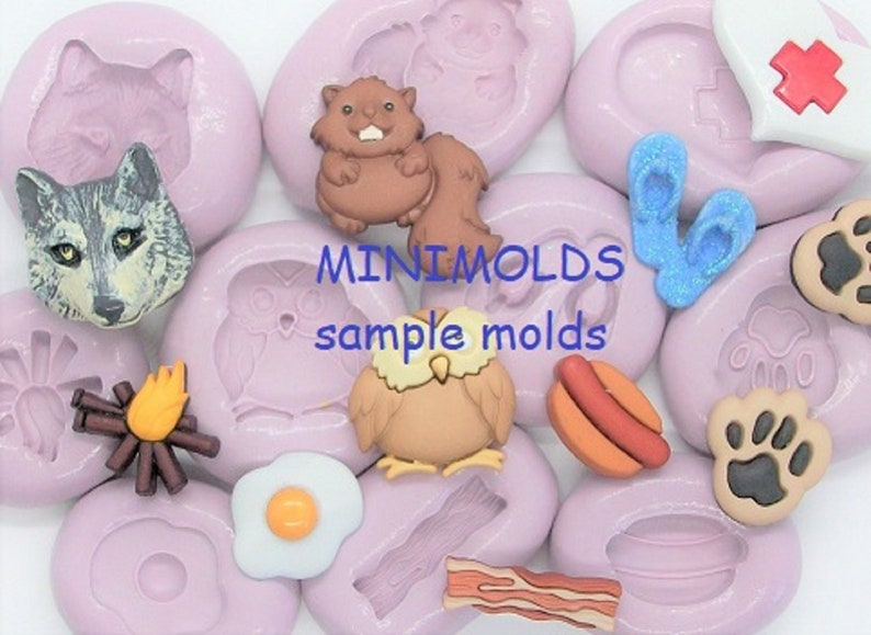 11 handmade molds for crafts made with FDA approved silicone for food and other materials Nativity Molds great for miniatures.