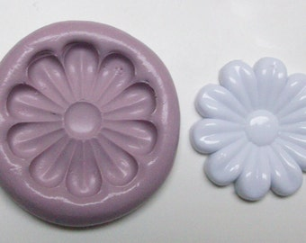 Daisy Mold #93 - silicone mold, craft mold, porcelain mold, jewelry mold, food mold, pop up mold, clays mold, flexible mold