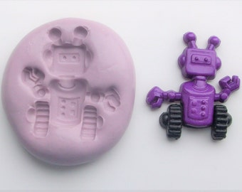 Silicone mold robot 1088 - craft mold, porcelain mold, jewelry mold, food mold, pop up mold, clays mold, flexible mold