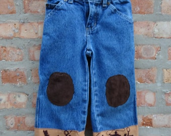 Boys Cowboy Jeans,Children's Clothing,Southwestern Jeans,Upcycled Jeans,by Nine Muses Of Crete