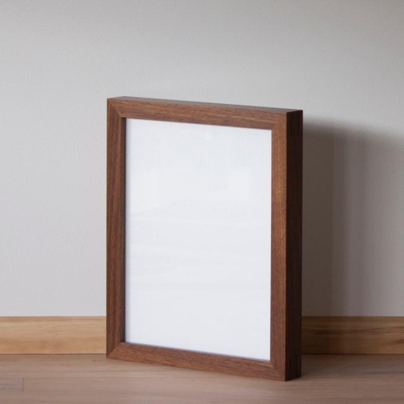 Walnut Gallery Frame  Clear Acrylic