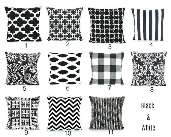 Black Throw Pillows, Decorative Farmhouse Pillow Cushion Covers, Modern  Buffalo Check, Black White Couch Sofa Pillow, Cottage Bedding Shams