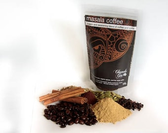 Masala Coffee Organic and Fair Trade 130 gram bag makes about 22 cups