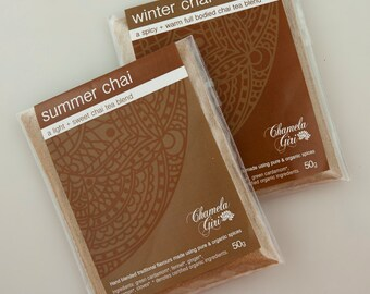 Organic Summer and Winter Chai Masala 50 gram bag of each