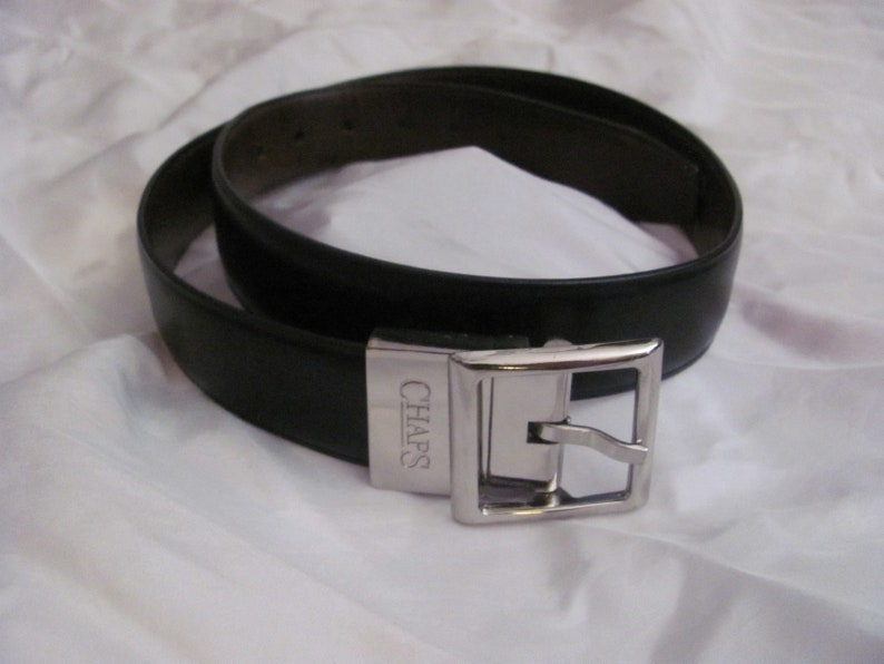Chaps Black Leather Belt Man or Woman Size 2628 Small or Child