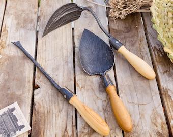 Superbe Gardening Tools, Hand Forged Garden Tool, Gift Set, Gardening Tools,  Trowel, Dandelion Root Digger, Korean Hoe, Set Of 3