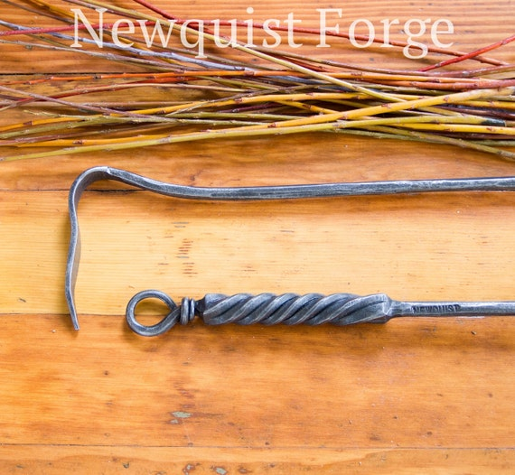 Forged Fire Poker Fireplace Tools Wood Stove Tool Wrought Etsy