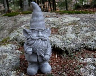 Gnome Statue, Gardening Gnome, Gnomes For Garden, Concrete Gnome, Cement  Gnomes Cast Stone, Garden Decor, Garden Statues, Concrete Statue