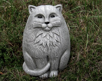 Cat Statue, Large Concrete Garden Cats, Cement Cat Figure, Garden Decor,  Concrete Cat Statues, Cement Statues, Concrete Garden Statues, Cats