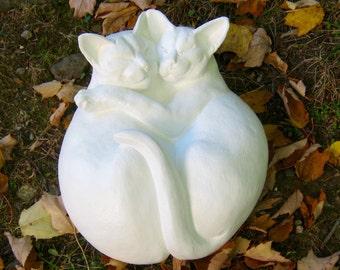 Concrete Cat Statue, Cuddling Life Size Cat Figures, Pet Memorials, Cat  Statues, Cement Cat, Garden Decor, Concrete Statues, Headstone, Art.