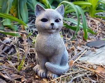 Cement cat statues | Etsy