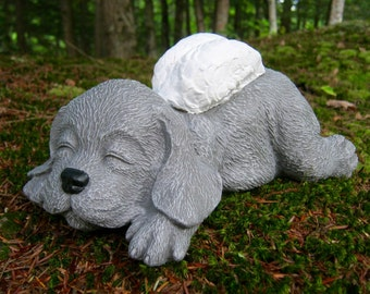 Dog Angel Memorial, Pet Memorial, Concrete Dog Statue, Dog Angel, Cement Dog, Concrete Statues, Cement Statues, Dog Memorial Headstone, Art