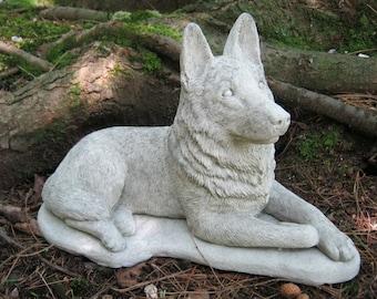 Exceptionnel German Shepherd Dog, Concrete Dog Statue, Cement Statue, Canine Police Dogs,  Shepherd Statue, Pet Memorial, Garden Statue, Memorial For Dog