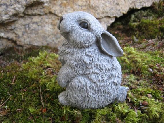 Exceptionnel Rabbit Statue Cute Bunny Garden Figure Painted Concrete | Etsy