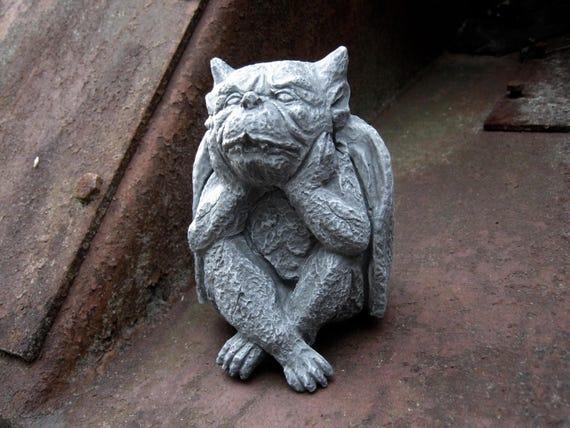 Gargoyle Statue Stone Gargoyle Concrete Garden Decor | Etsy
