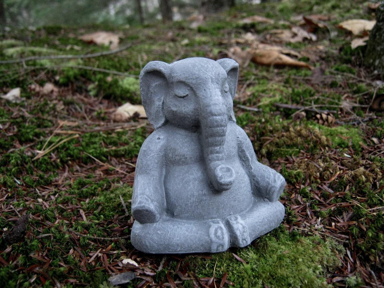 Elephant Statue Lucky Elephant Buddha Elephant Meditating Etsy