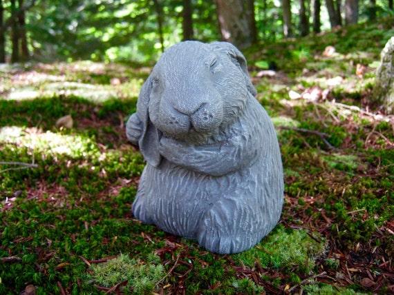 Rabbit Statue Garden Rabbit Statue Bunny Rabbits Statue | Etsy