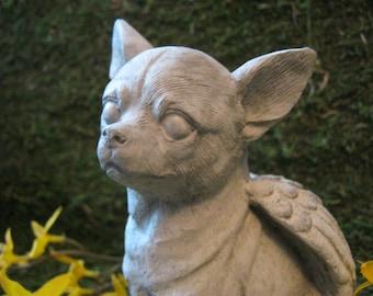 Chihuahua Angel, Chihuahua Statue, Pet Memorial Headstone, Concrete Statue, Chihuahua Memorial Marker, Chihuahua Dog Statues, Dog Figures.