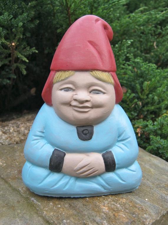 Gnome Garden: Gnome: Gnorma Painted Garden Gnome Cement Statue