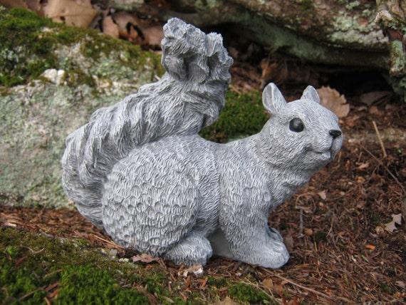 Squirrel Statue Concrete Squirrel Figure Squirrel Garden | Etsy