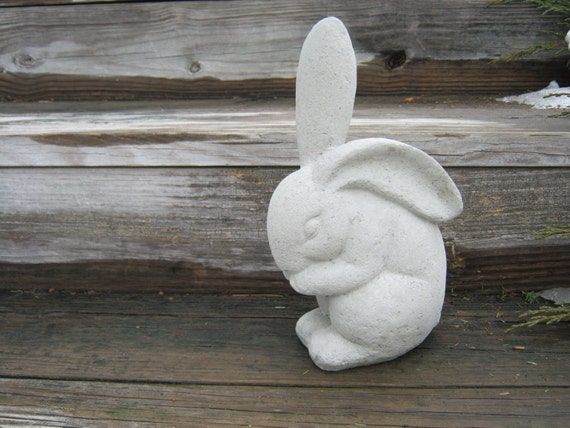 Rabbit Statue Concrete Garden Rabbits Garden Decor Cement