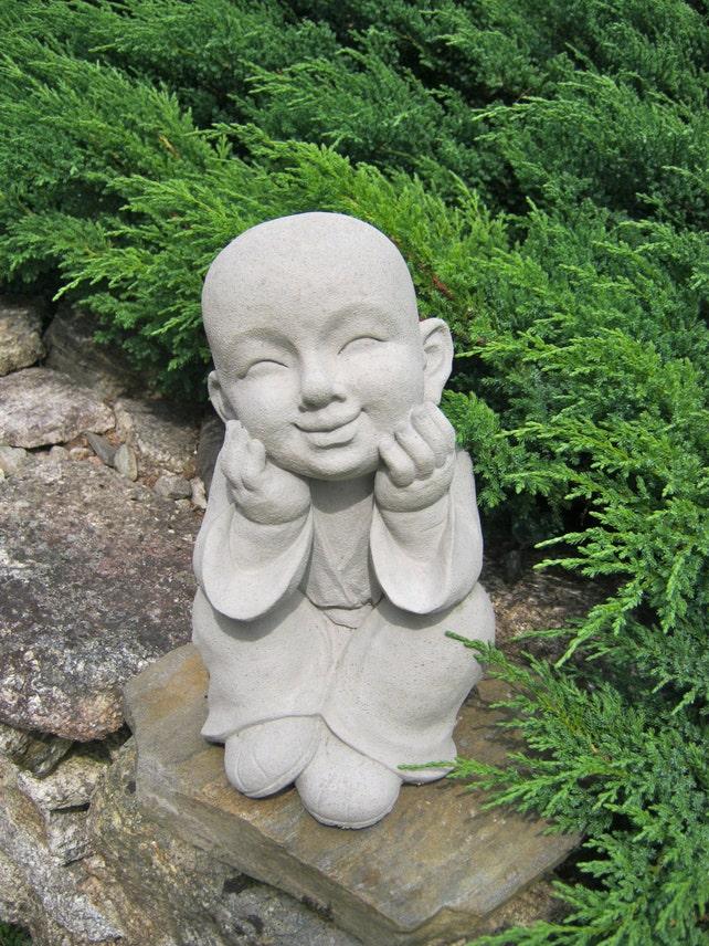 Boy Statue Buddhist Monk Pupil Of Buddha Garden Statue | Etsy